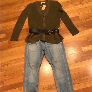 Green Ralph Lauren Cardigan Size Large (NWT)